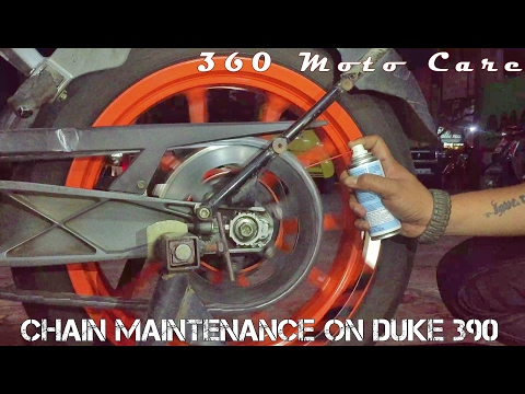 Ktm Duke 390 wash, Chain Lube & Detailing | Chain Maintenance | 360 Moto Care