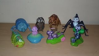 1998 DISNEY PIXAR A BUGS LIFE SET OF 8 McDONALDS HAPPY MEAL MOVIE TOYS VIDEO REVIEW