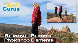 how to remove people using clone stamp in adobe photoshop elements 15 14 13 12 11 tutorial