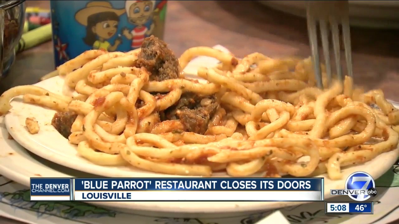Confirm. Blue parrot restaurant louisville co