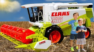 Комбайн Bruder Claas Lexion 480 и трактор Fendt   Toys 2 Boys