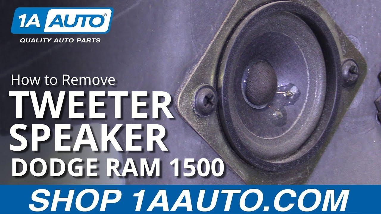 How To Replace Tweeter Speaker 94 02 Dodge Ram 1500 Youtube