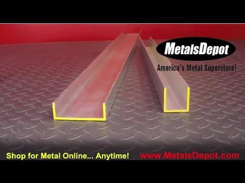 Metals Depot® - About 6063 Aluminum Channel