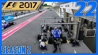 FROM GOOD TO BAD REAL QUICK |2/20| F1 2017 Sauber Career Mode S2 Episode 22