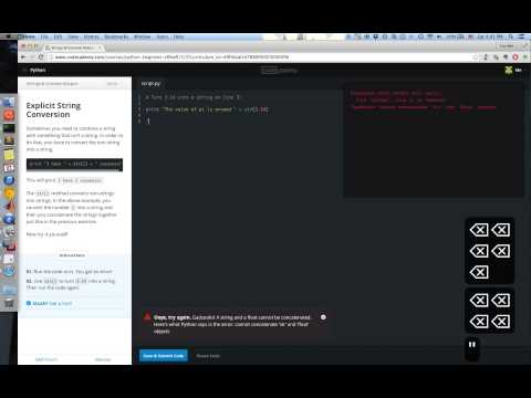 [10310QF100200]codecademy第3關 Strings and Console Output