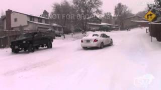 2-1-16 Colorado Springs, Colorado Winter Storm - Covered Roads