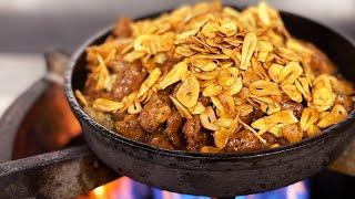 ガリビフライス Super Garlic rice with beef. GW(ガリハラウイーク)突入