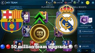 Real Madrid x Barça - Insane 50 million team upgrade - Making El Clasico squad in FIFA Mobile 19
