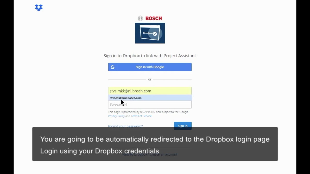 Bosch Security - Project Assistant software - (Optional) Step 9: Cloud -  Add/sync Dropbox