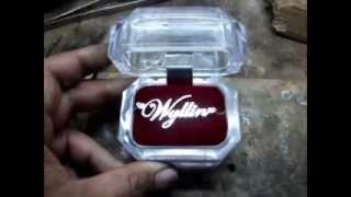 Jewelry Customizer (video 6) Making Of 14 Karats White Gold Pendant Name