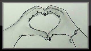 drawing easy pencil valentine idea