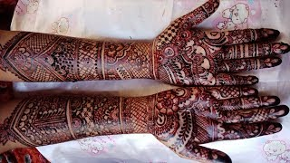 Full Hand Bridal Mehndi Designs - Dulhan Henna Design