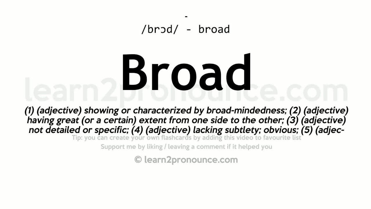 Pronunciation of Broad  Definition of Broad