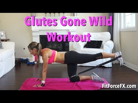 Glutes Gone Wild Resistance Band Workout Bu Ift Gluteworkout Zillianbutt