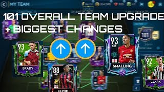 101 OVERALL MASSIVE TEAM UPGRADE +BIGGEST TEAM CHANGES! MAKING THE PERFECT EPL TEAM FIFA Mobile 19