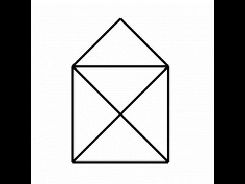 Kalem ile bir piramit çizmek için