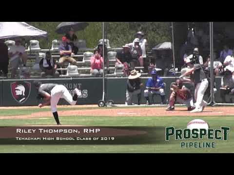 Riley Thompson Prospect Video, RHP, Tehachapi High School Class of 2019,  CF Cam