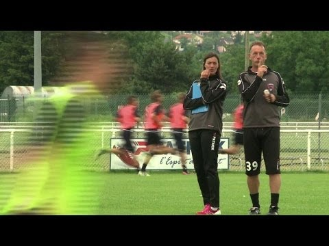 Clermont's woman coach Diacre takes to field