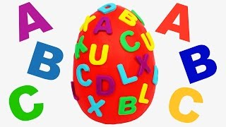 Giant Surprise Egg ABC Learn ABC Learn a Word Learn Spelling with Play Doh