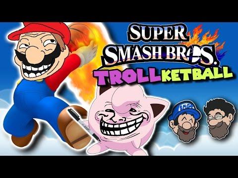 Trolling in SMASHSKETBALL!    Super Smash Bros Wii U    HOBO BROS
