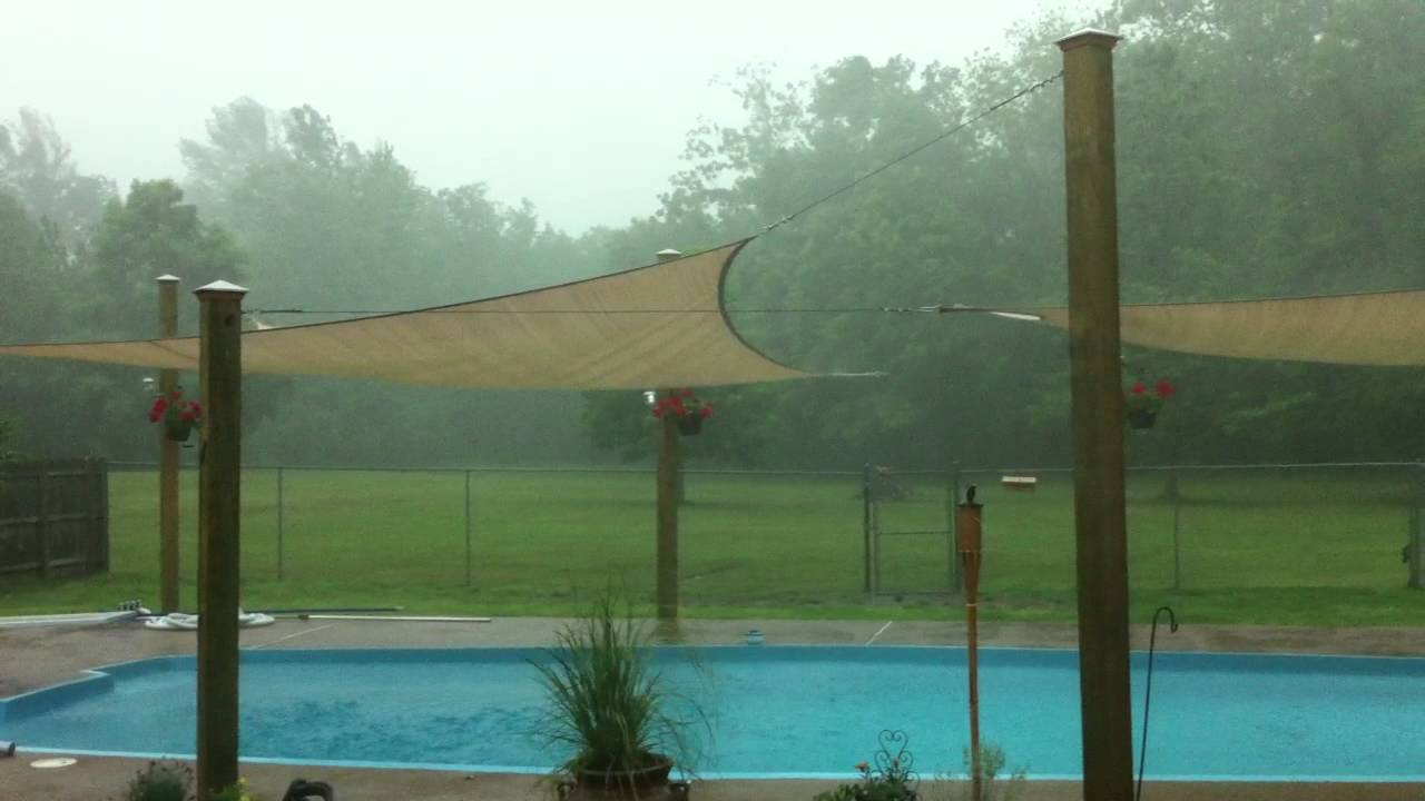My Outdoor Sun Shade Sails Survive A Spring Storm   YouTube