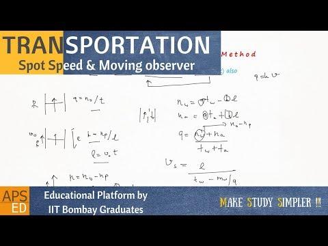 Spot Speed, Moving Observer(Floating Car Method) | Transportation Engineering