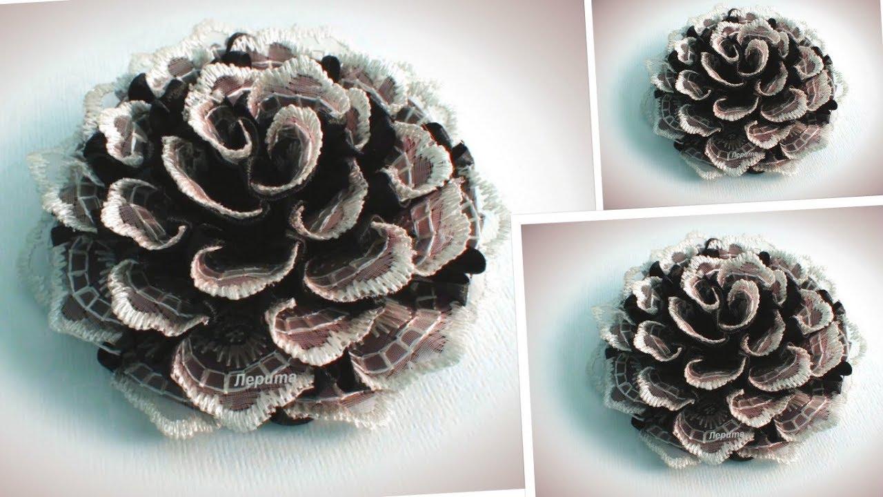 Цветы для школы канзаши