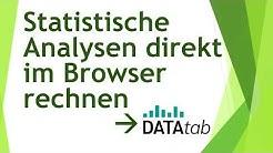 Statistische Analysen direkt im Browser rechnen - kostenlos mit Datatab