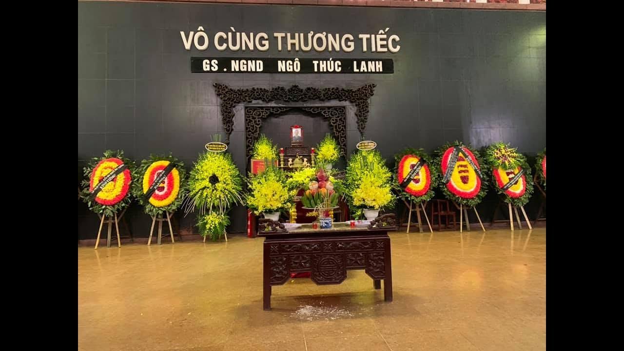 Điếu văn  GS. NGND Ngô Thúc Lanh