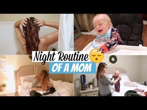 NIGHT TIME ROUTINE OF A MOM 2018 | STAY AT HOME MOM WITH A 6 MONTH OLD BABY