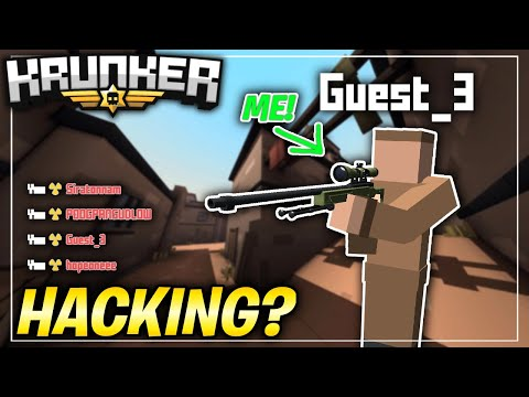 I PRETENDED TO BE A GUEST IN KRUNKER.IO! (you Wont Believe What Happened..)