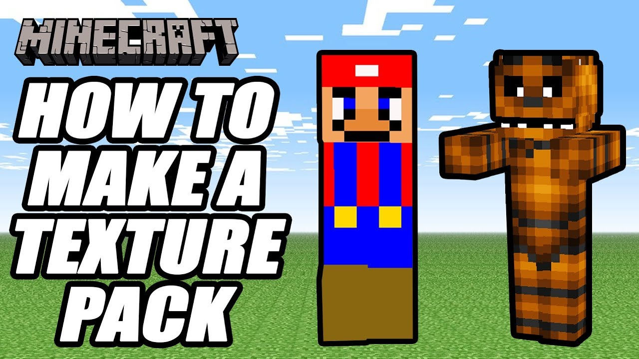 Minecraft How To Make A Resource Pack Texture Pack Tutorial Youtube