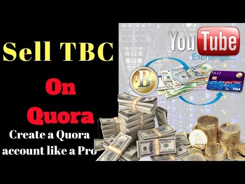 sell tbc - thebillioncoin - how to create a professional Quora account and sell more tbc