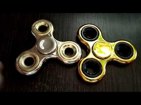 Спиннер металлический Золотой хромированный Hand Spinner купить в Киеве и Украине