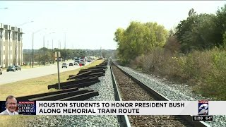 Houston students to honor President Bush along Memorial train route