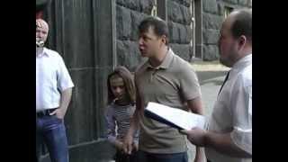Олег Ляшко привел собаку в кабмин кусать Азарова
