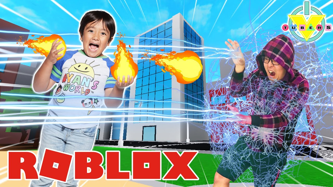 RYAN IS A HERO IN ROBLOX! Let's Play Roblox Age of Heroes with Ryan vs  Daddy!