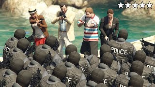 GTA 5 - Michael's Family VS Five Star SWAT TEAM at the PLAYBOY MANSION! (Amanda, Tracey and Jimmy)