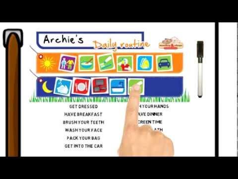 kids daily routine chart monkey amp chops behavior charts