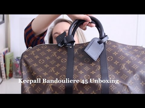 3e889a527ce Louis Vuitton Keepall Bandouliere 45 in Monogram Macassar Unboxing || LOTS  OF LOVE BUFFY