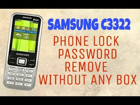 SAMSUNG C3322 PHONE LOCK REMOVE WITHOUT ANY BOX | ANY SAMSUNG FEATURE MOBILE PHONE LOCK REMOVE