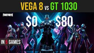 Vega 8 vs GT 1030 test in 5 games | Ryzen 3 3200g
