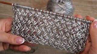 Ажурная плетенка спицами 🦢 Lase Plait stitch