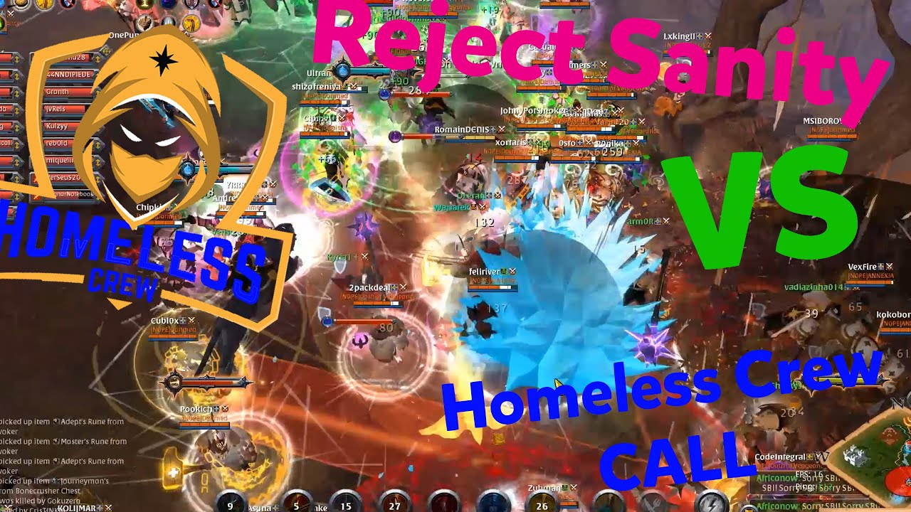 Homeless Crew - Reject Sanity | Don't bully me I did see the wall but I saw enemies | Albion ZvZ