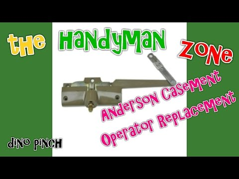ANDERSON CASEMENT WINDOW operator removal & ordering correct