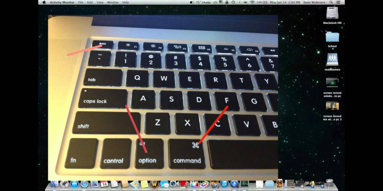 ctrl alt del mac shortcut