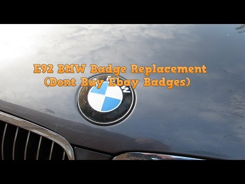 E92 BMW Badge Replacement (Dont Buy Ebay Badges)