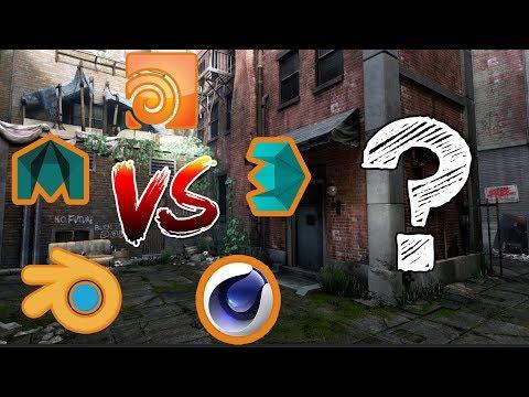 Maya vs 3DsMax vs Cinema 4D vs Houdini vs Blender