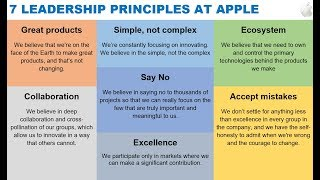 Gambar cover 7 Core Values at Apple via Tim Cook