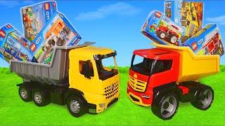 LEGO Camion de pompier, voiture de police, trains Pelleteuse, tracteur, tractopelle - Excavator Toys
